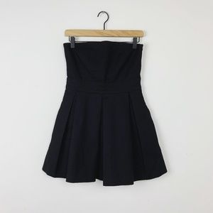 Zara TRF Textured Black Mini Dress
